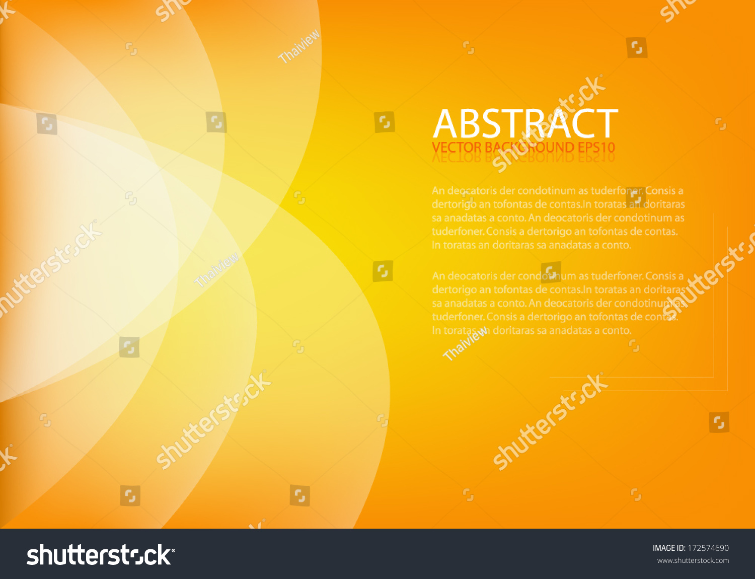 Color Abstract Vector Background Text Frame Stock Vector: Orange Background Vector Art Background Abstract Eps10