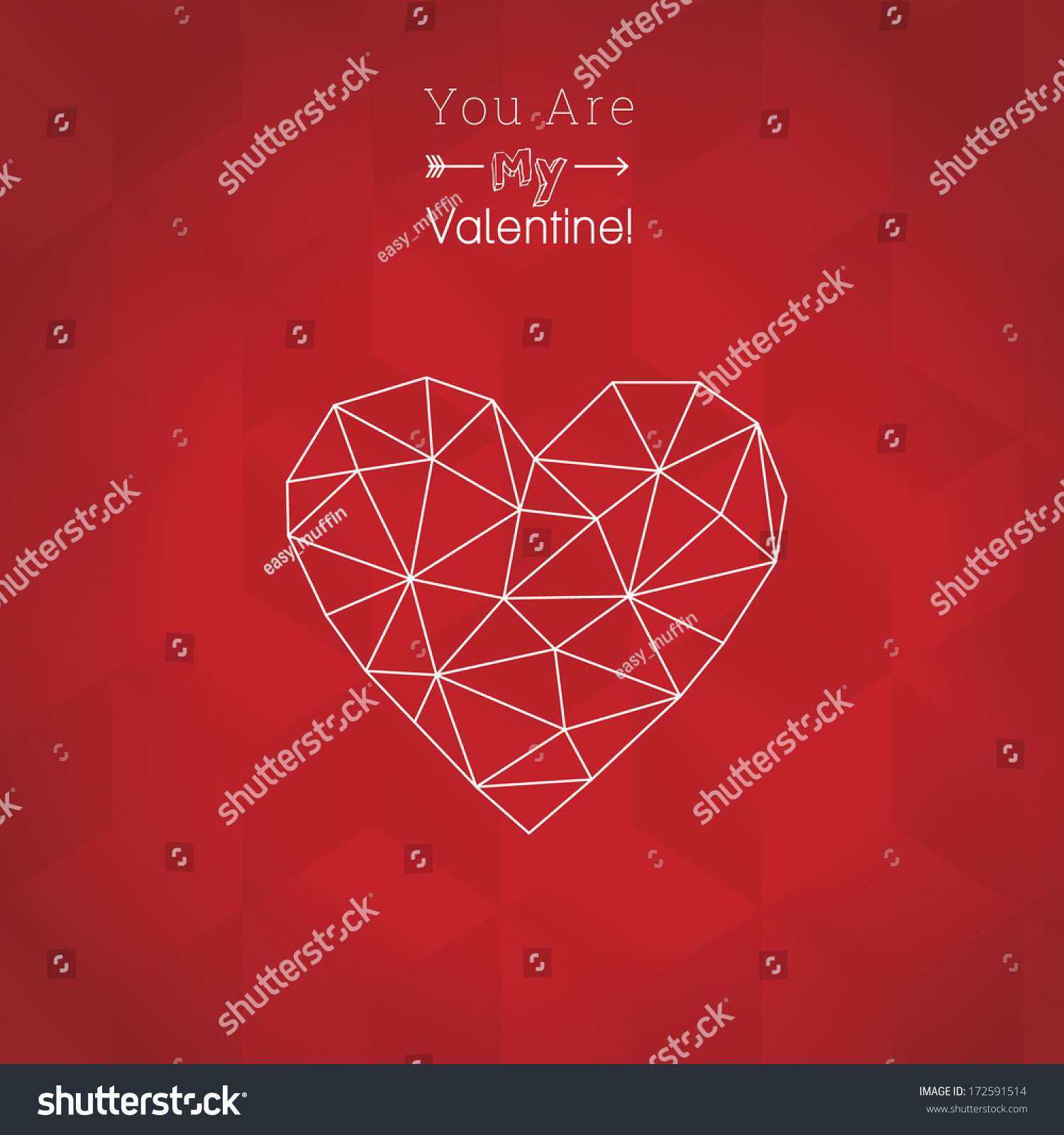 Scalable Minimal Grid Heart Seamless Cube Stock Vector 172591514 ...