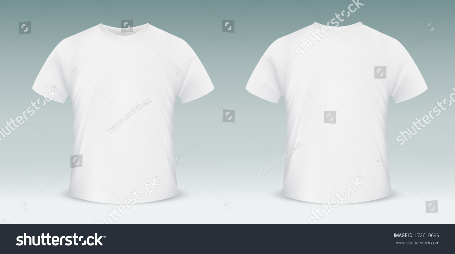 Blank Tshirt Template Front Back Side Stock Vector