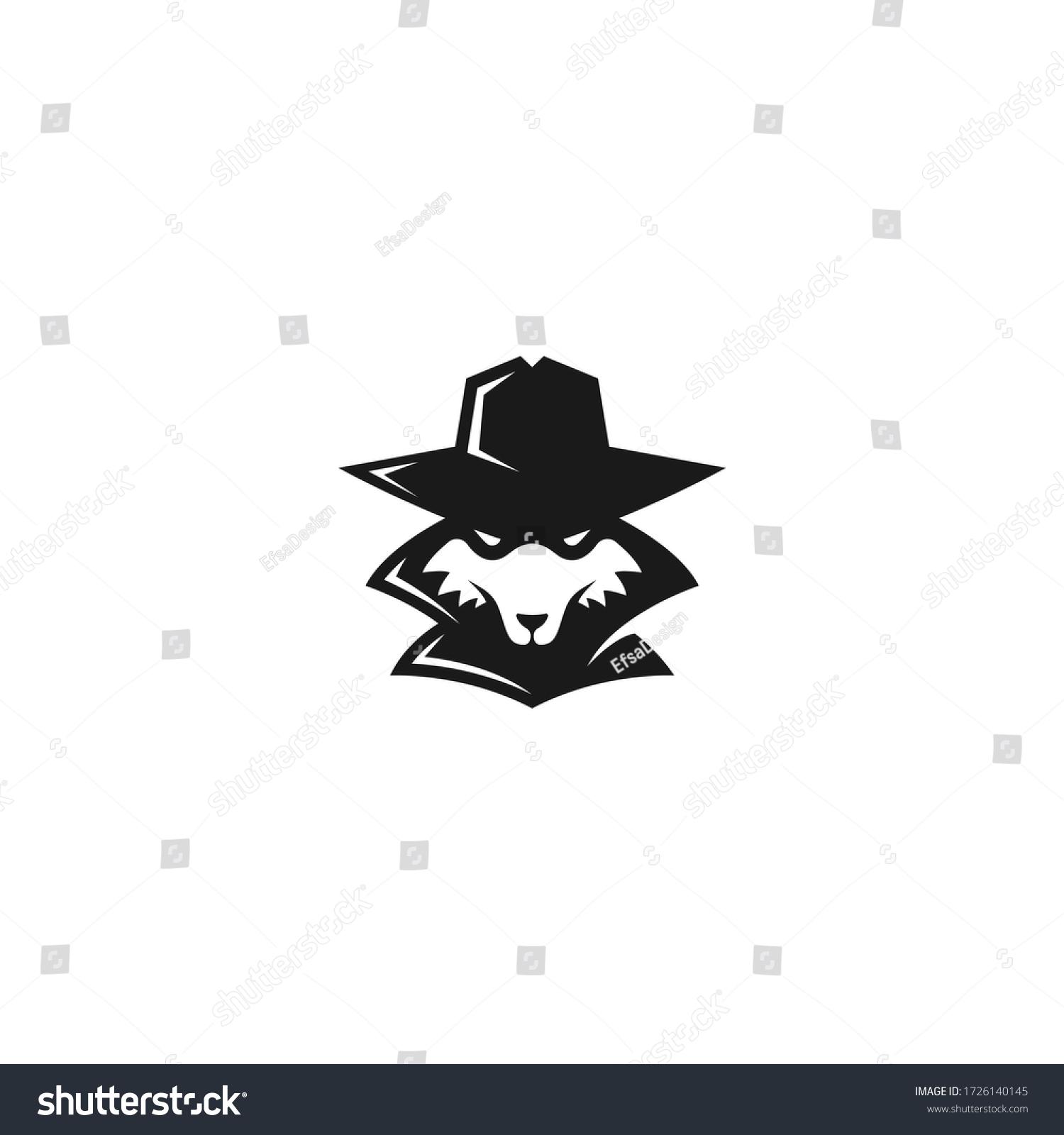 Fox Hacker Logo Mysterious Computer Hacker Stock Vector Royalty Free 1726140145