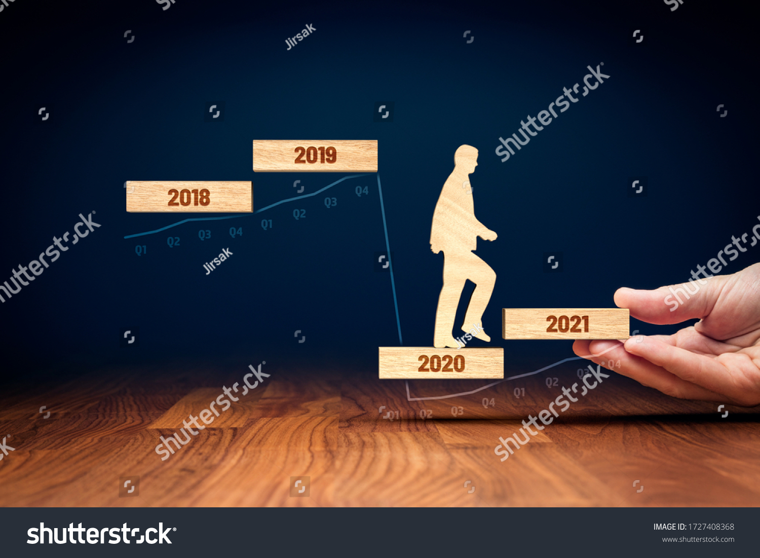 Post covid-19 era helping hand for business and economy concept. Government economic stimulus after covid-19. Secretary of the treasury (politician) stimulate economy for GDP growth in year 2021. #1727408368