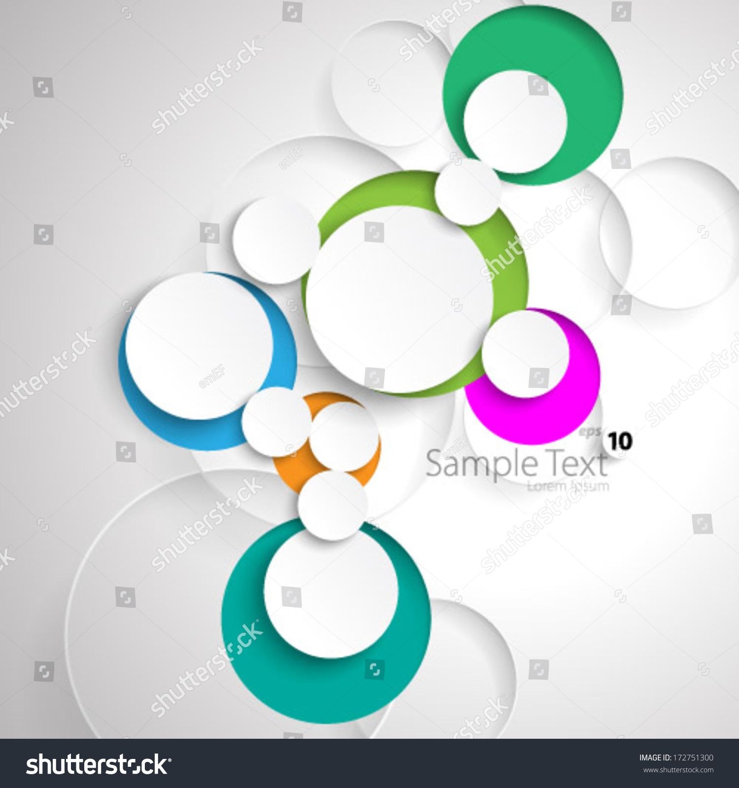 Simple Colorful Circles Design Background Stock Vector 172751300 ...