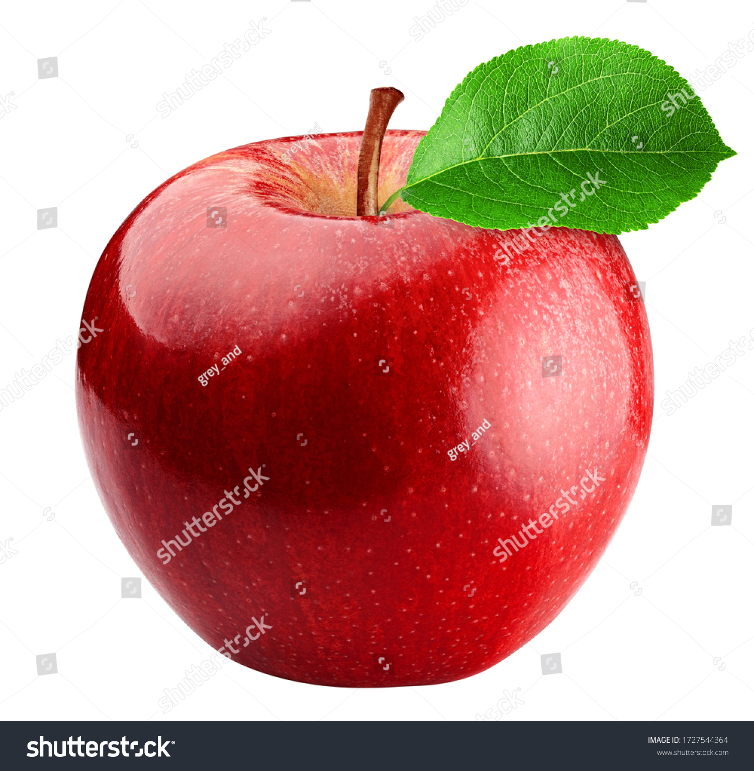 Red apple isolated on white background, clipping path, full depth of field #1727544364