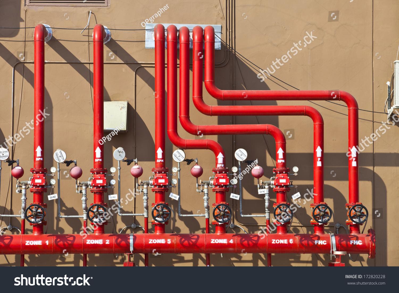 Sprinkler Control Panel : Water sprinkler fire alarm system control stock photo