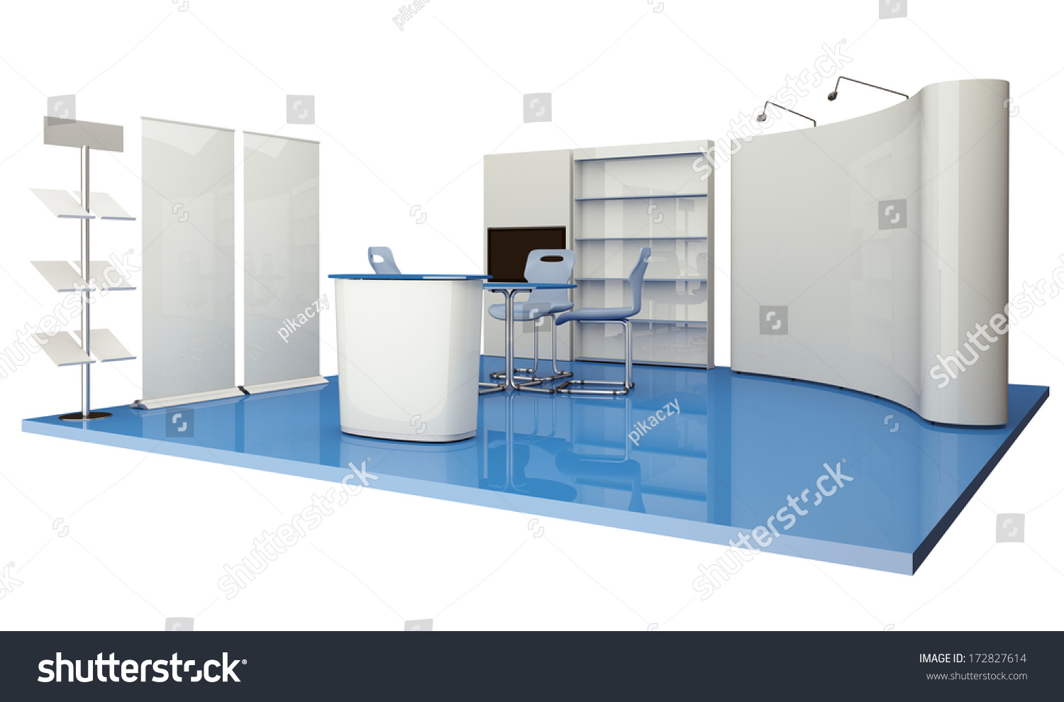 Exhibition Stand Elements : Advertising elements exhibition stand stock photo