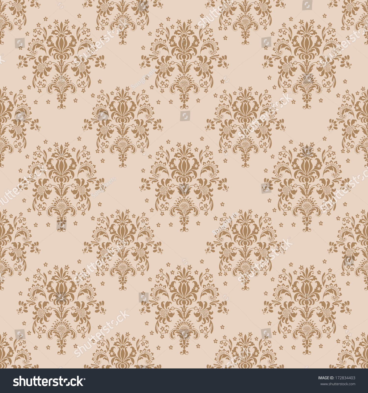 popular brown beige green damask - photo #25