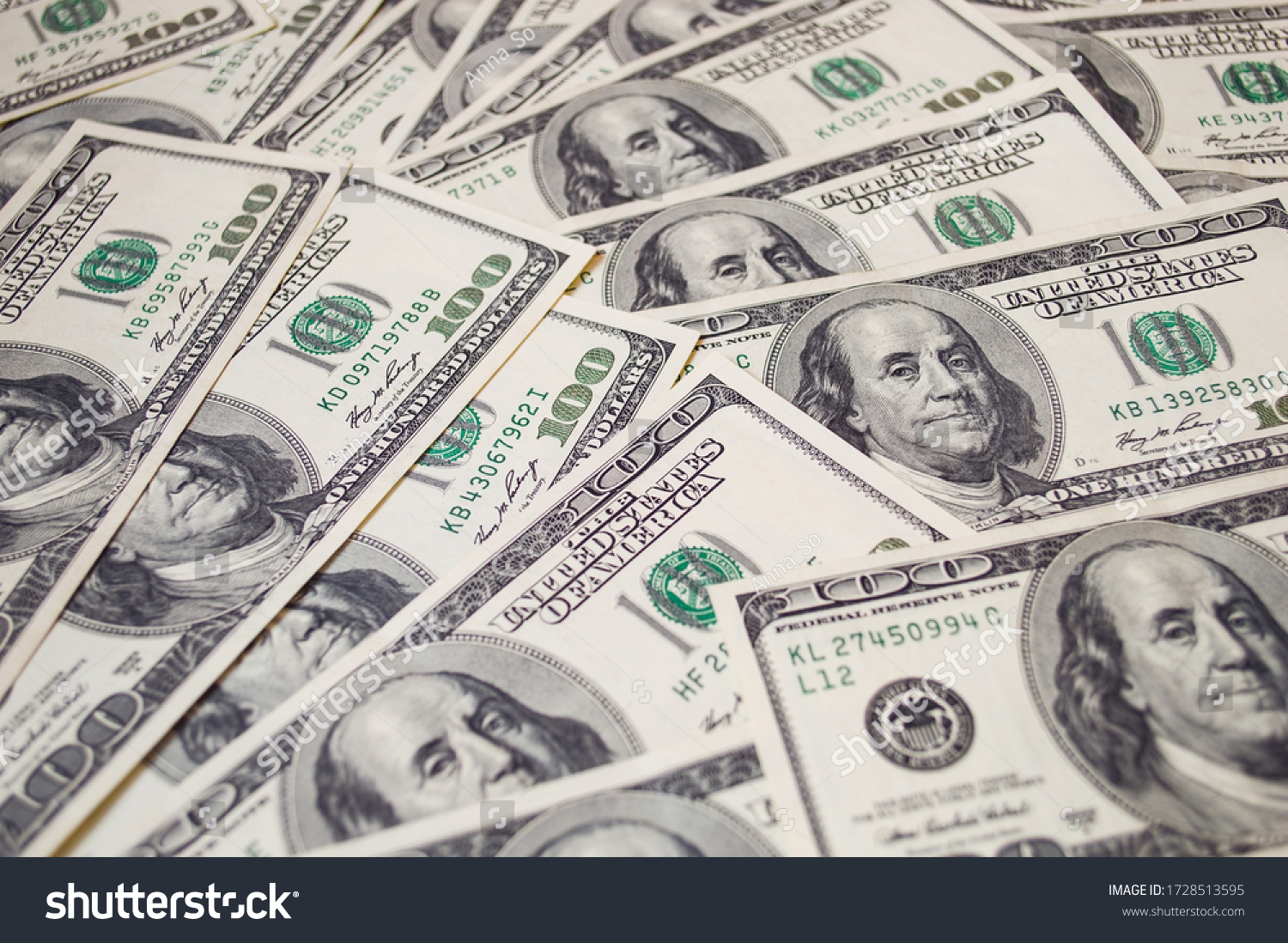 dollars banknotes background. global financial crisis concept  #1728513595