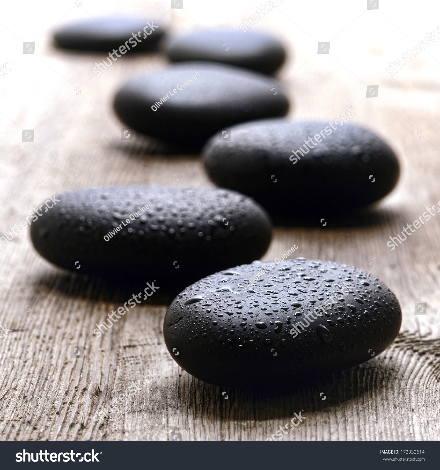 wet smooth polished massage black stock photo 172932614