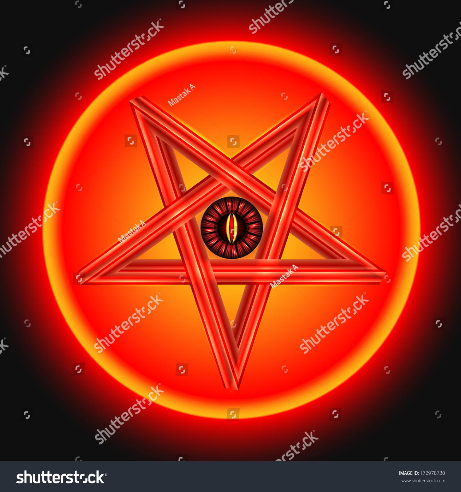 Eye Satan Metal Pentagram Horror Symbol Stock Illustration 172978730