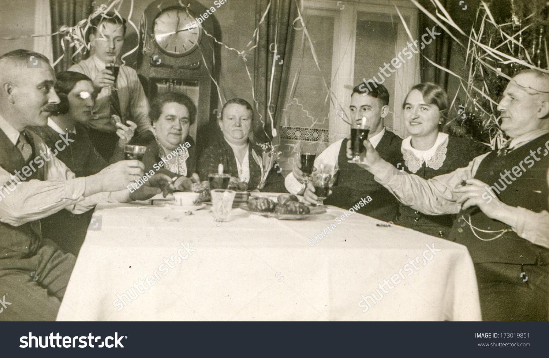 Germany Circa Fifties Vintage Photo Family Stockfoto Jetzt