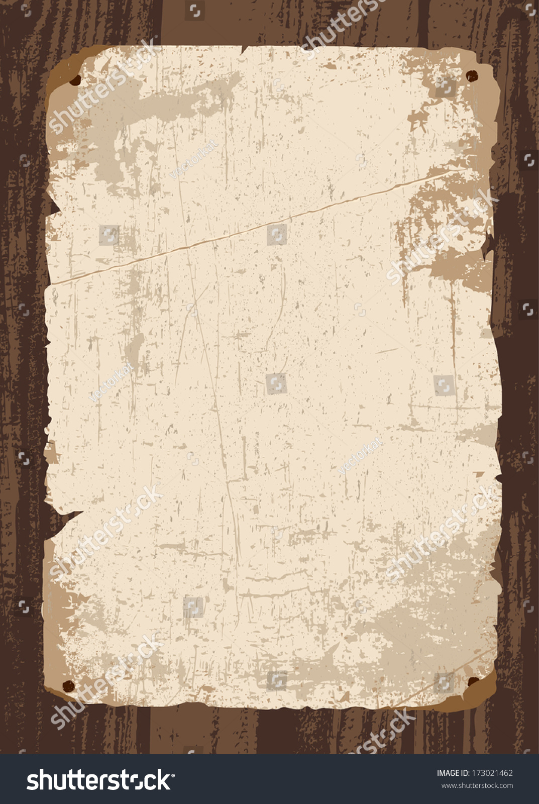 Vector retro old paper parchment template stock vector 173021462 vector retro old paper and parchment template all pieces and distressed overlays are separated pronofoot35fo Gallery