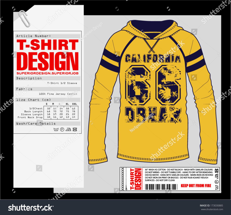 T Shirt Design Print Design College Varsity Stock Vector Royalty