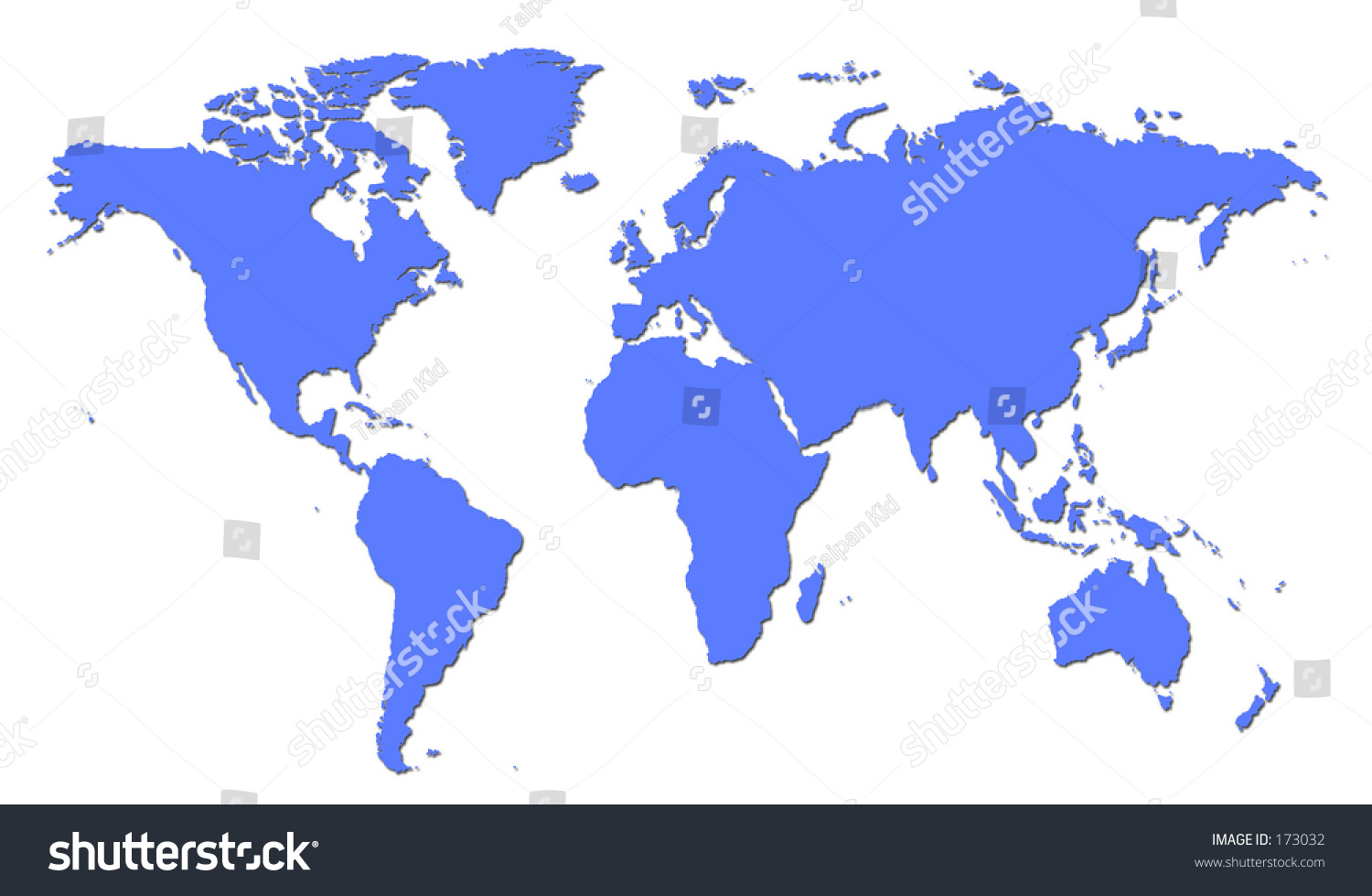 Plain blue world map stock illustration 173032 shutterstock gumiabroncs Image collections