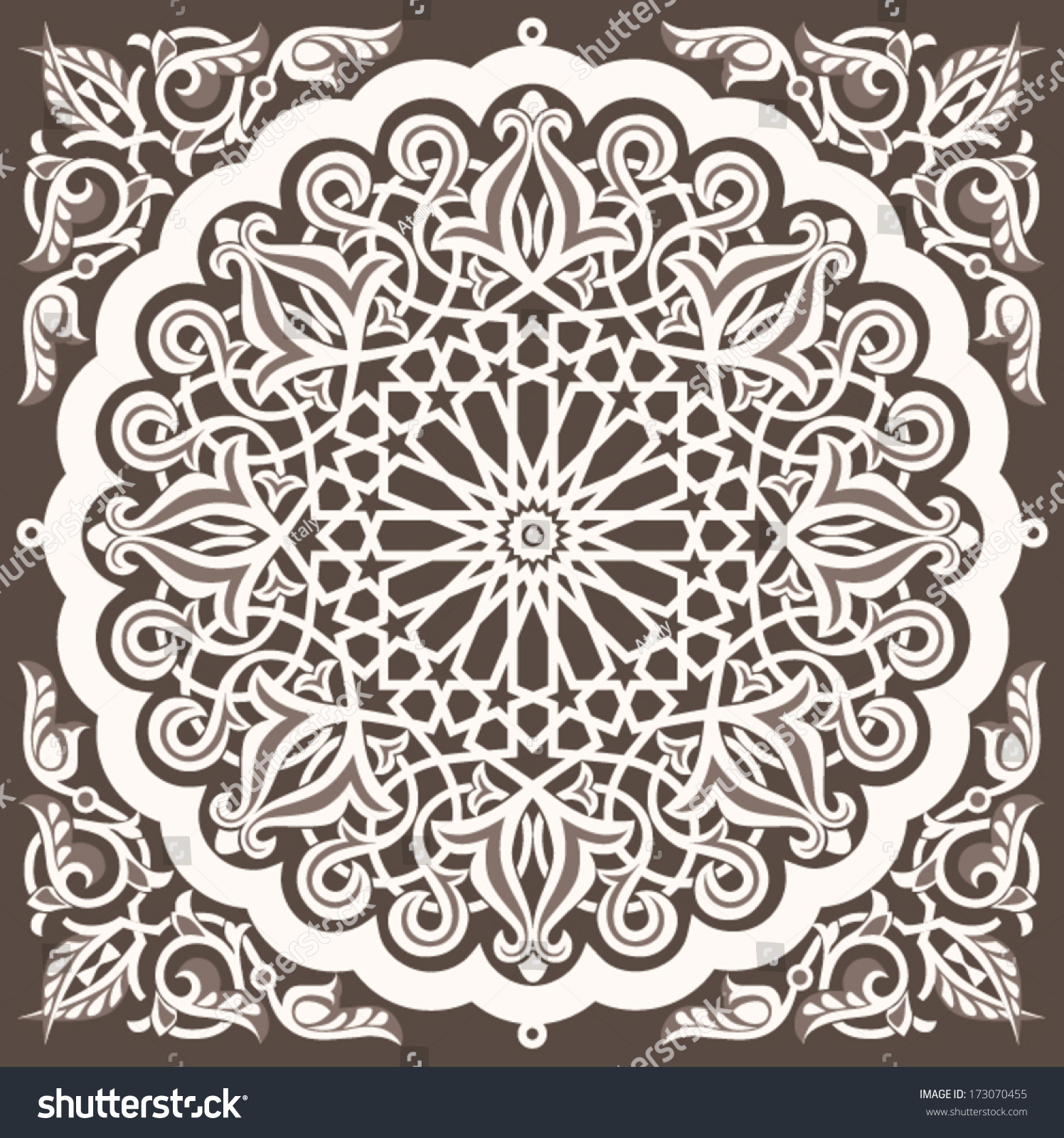 Arabic Vintage Seamless Ornament Background Design Stock Vector 173070455 Shutterstock