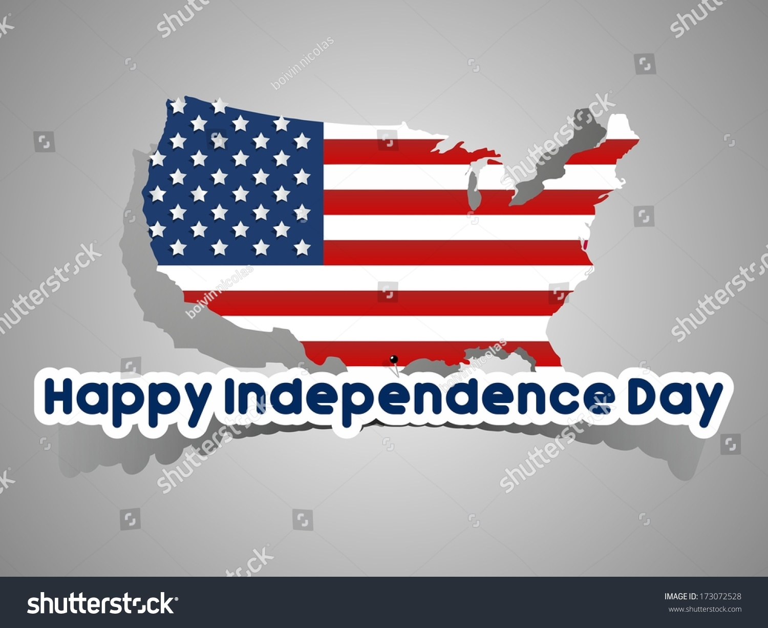 Happy Usa Independence Day Card Abstract Stock Vector 173072528