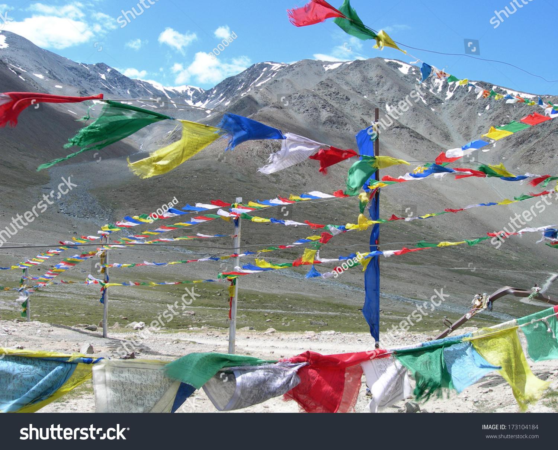 Prayer Flags Tibetan Symbols Road Side Stock Photo Edit Now