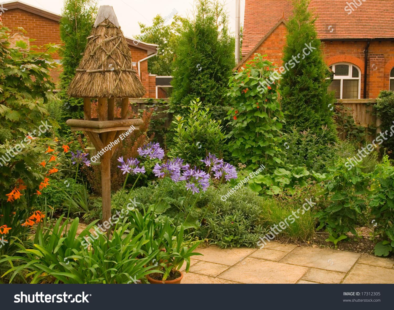 Quaint English Cottage Garden Chapel Background Stock ... Quaint English Cottages
