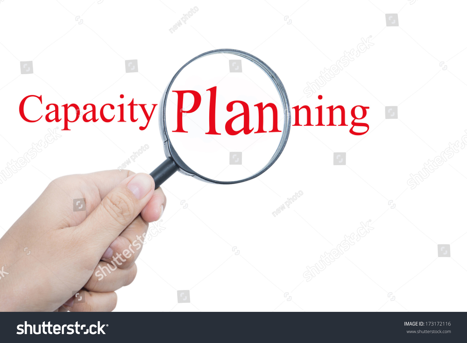 Hand Showing Capacity Planning Word Through Stock Photo 173172116 ...