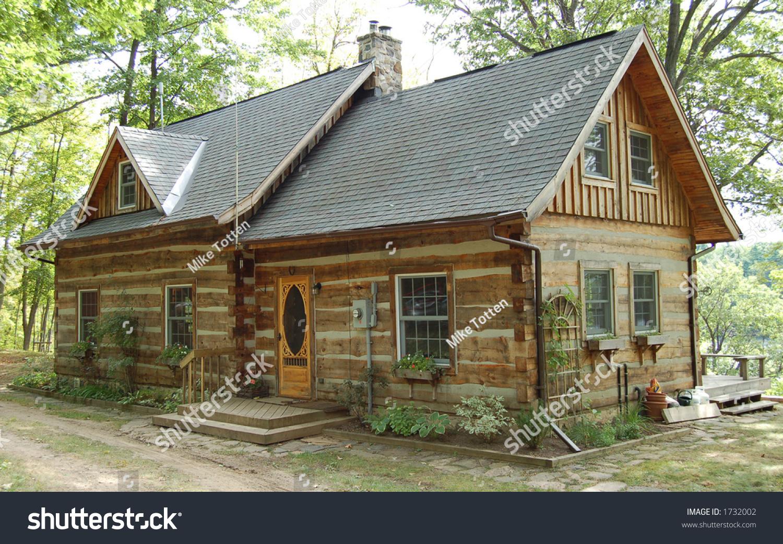 Log cabin woods stock photo  shutterstock