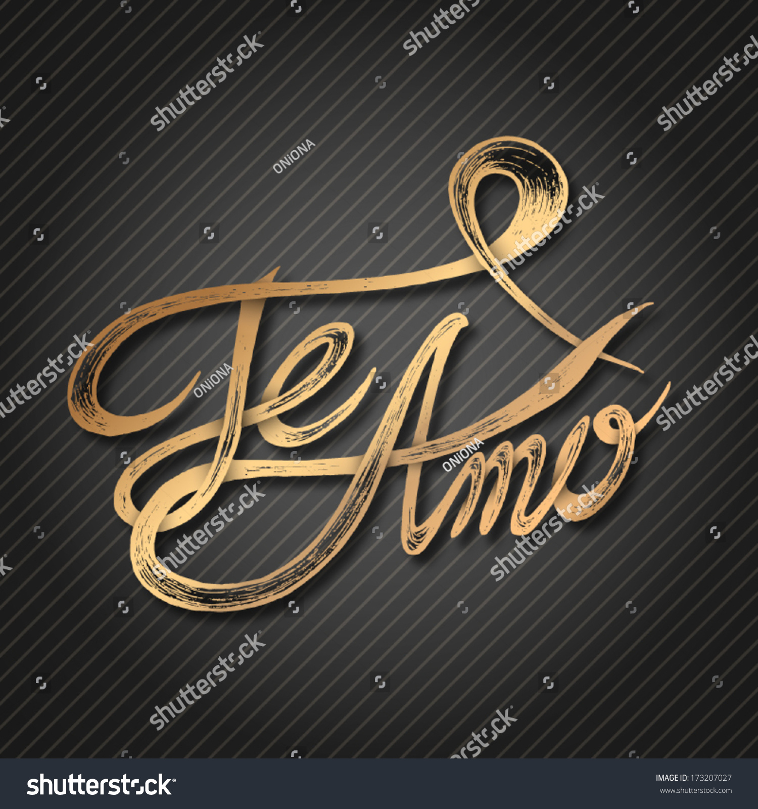 Te Amo Quotes Te Amo Love You Hand Drawn Stock Vector 173207027  Shutterstock