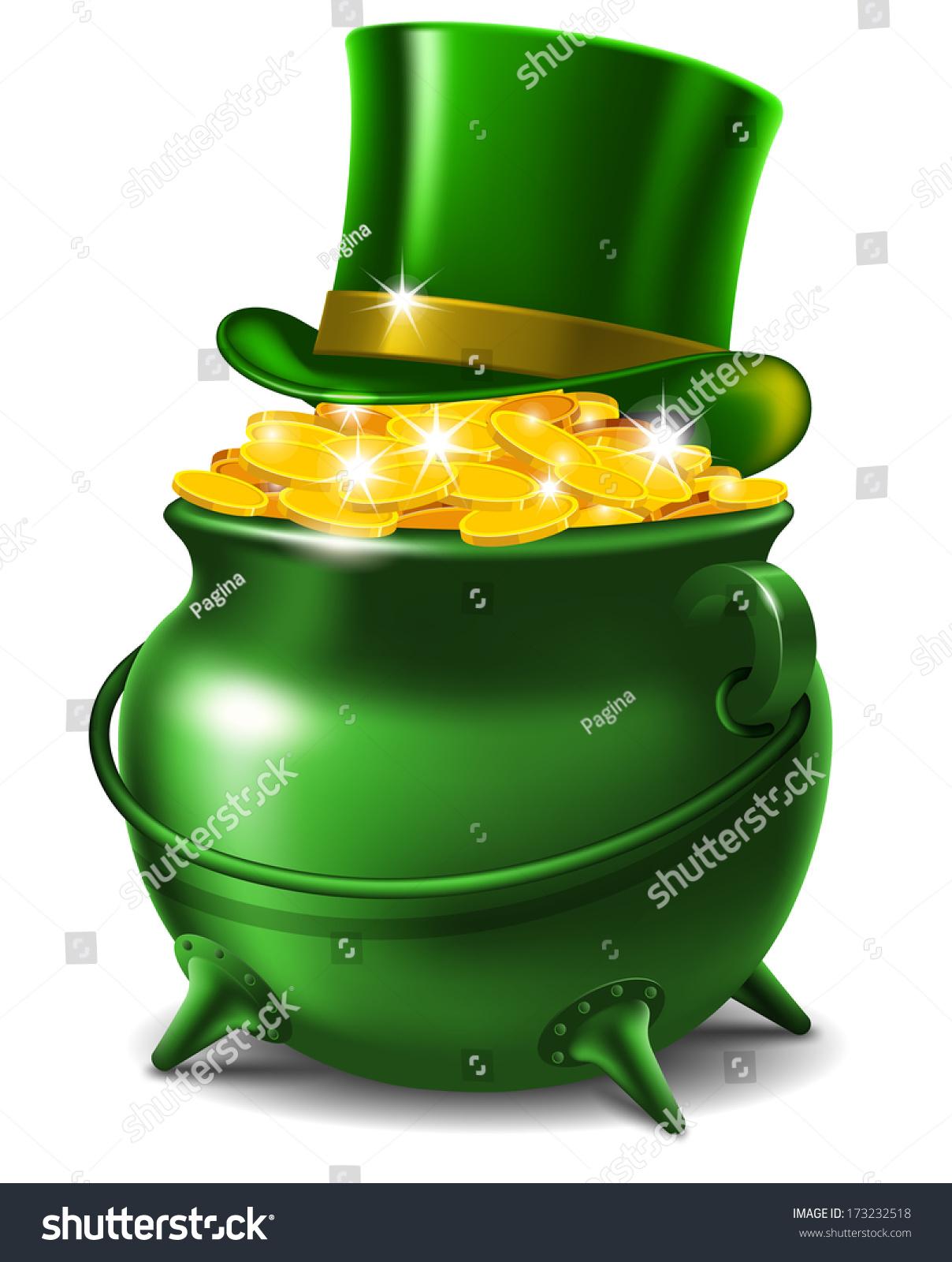 st patricks day symbols leprechaun hat stock vector 173232518
