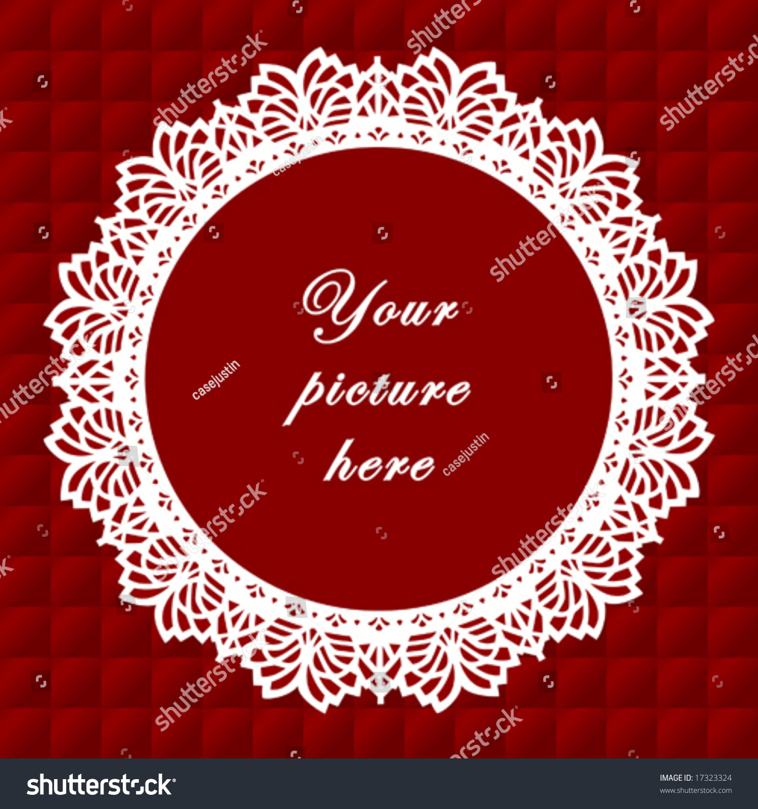 Lace Frame Vintage Doily Border Round Stock Vector (Royalty Free ...