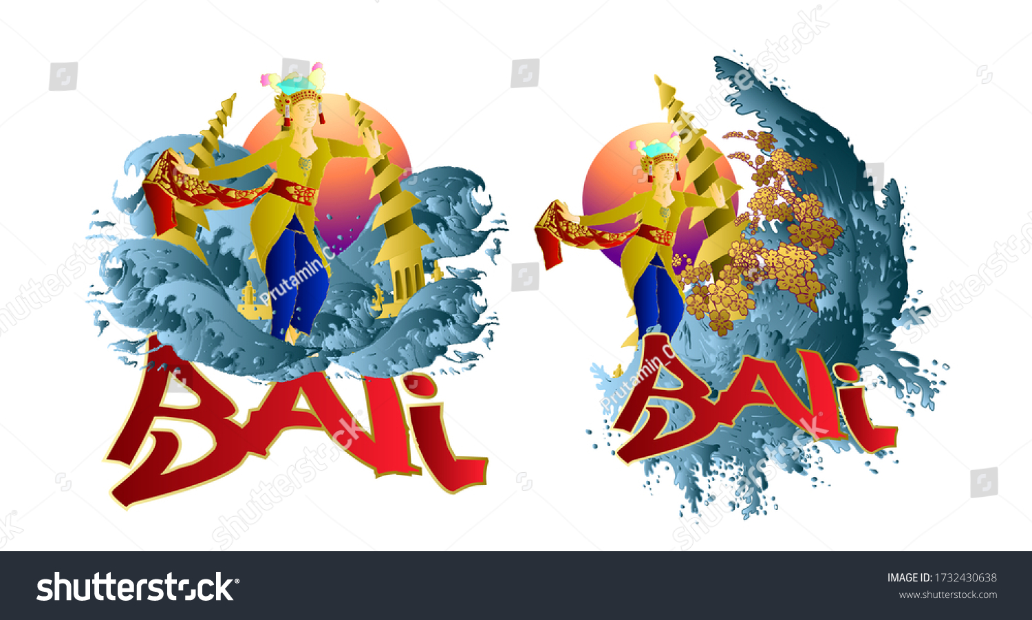 stock-vector-bali-iconic-place-and-bali-