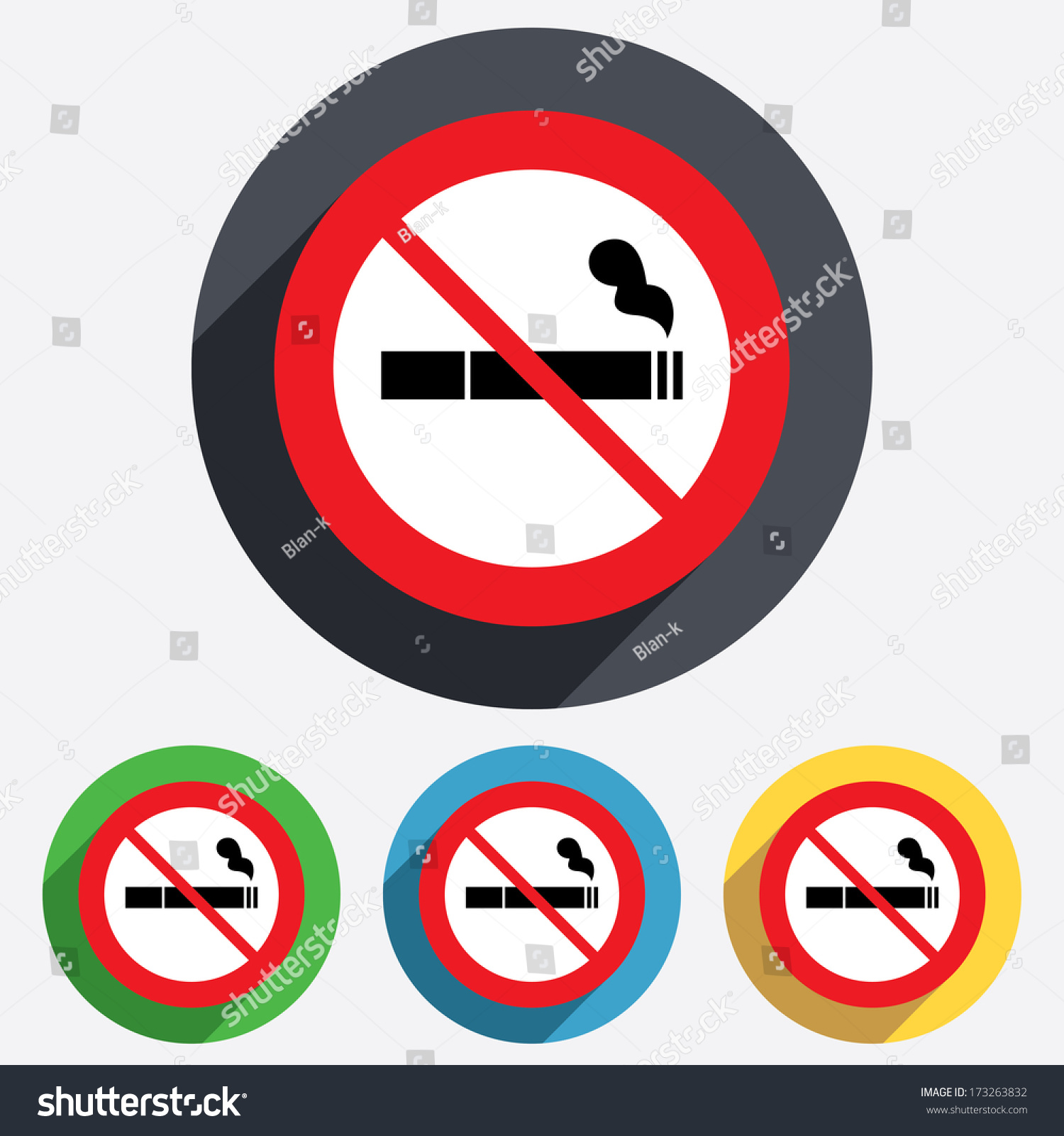 No smoking sign icon cigarette symbol stock vector 173263832 no smoking sign icon cigarette symbol red circle prohibition sign stop flat symbol biocorpaavc Image collections