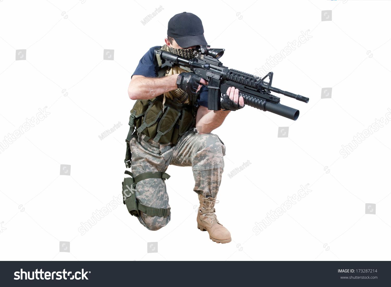 Real Mercenary Soldier - photogram
