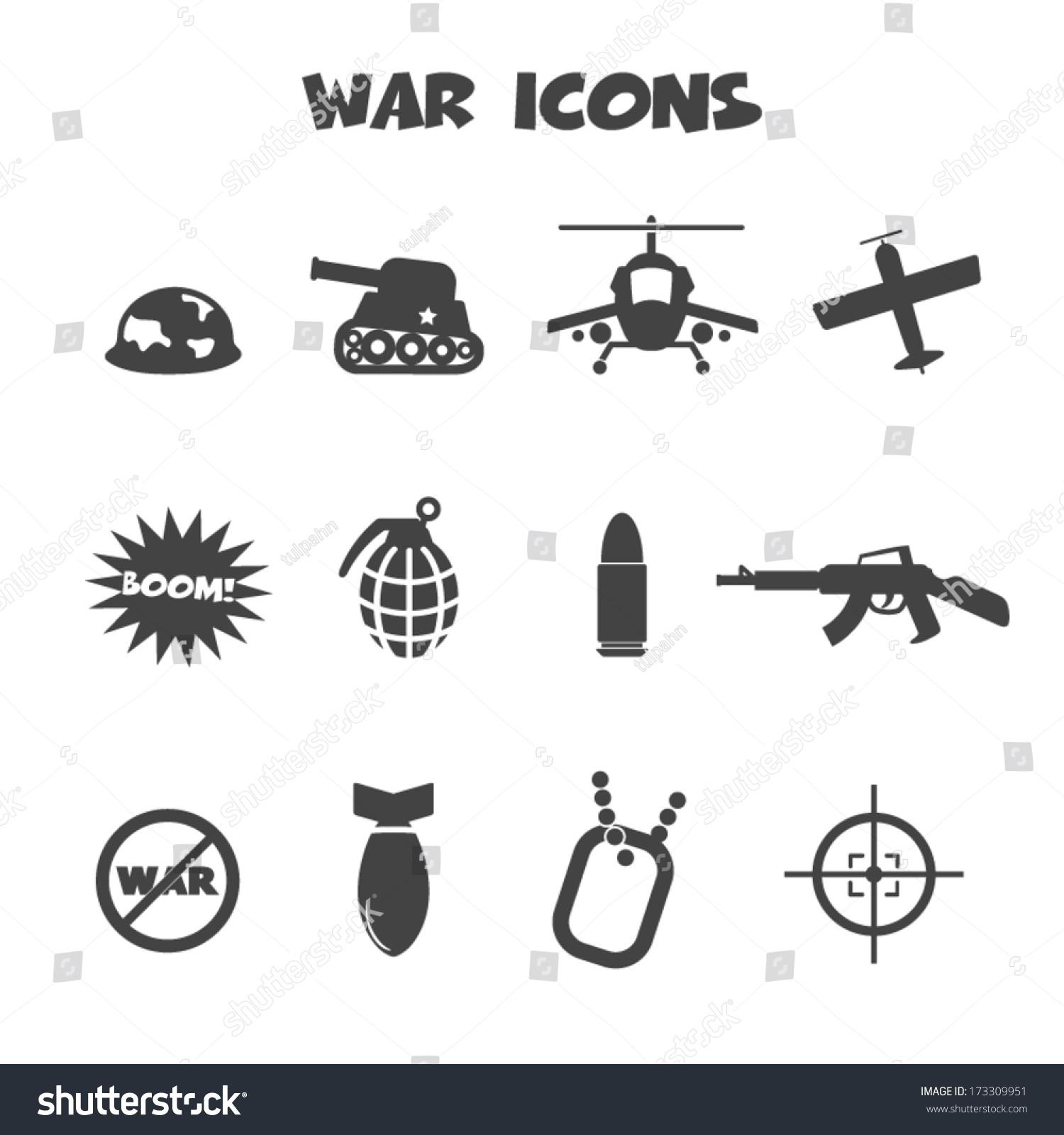 War icons mono vector symbols stock vector 173309951 shutterstock war icons mono vector symbols biocorpaavc Images
