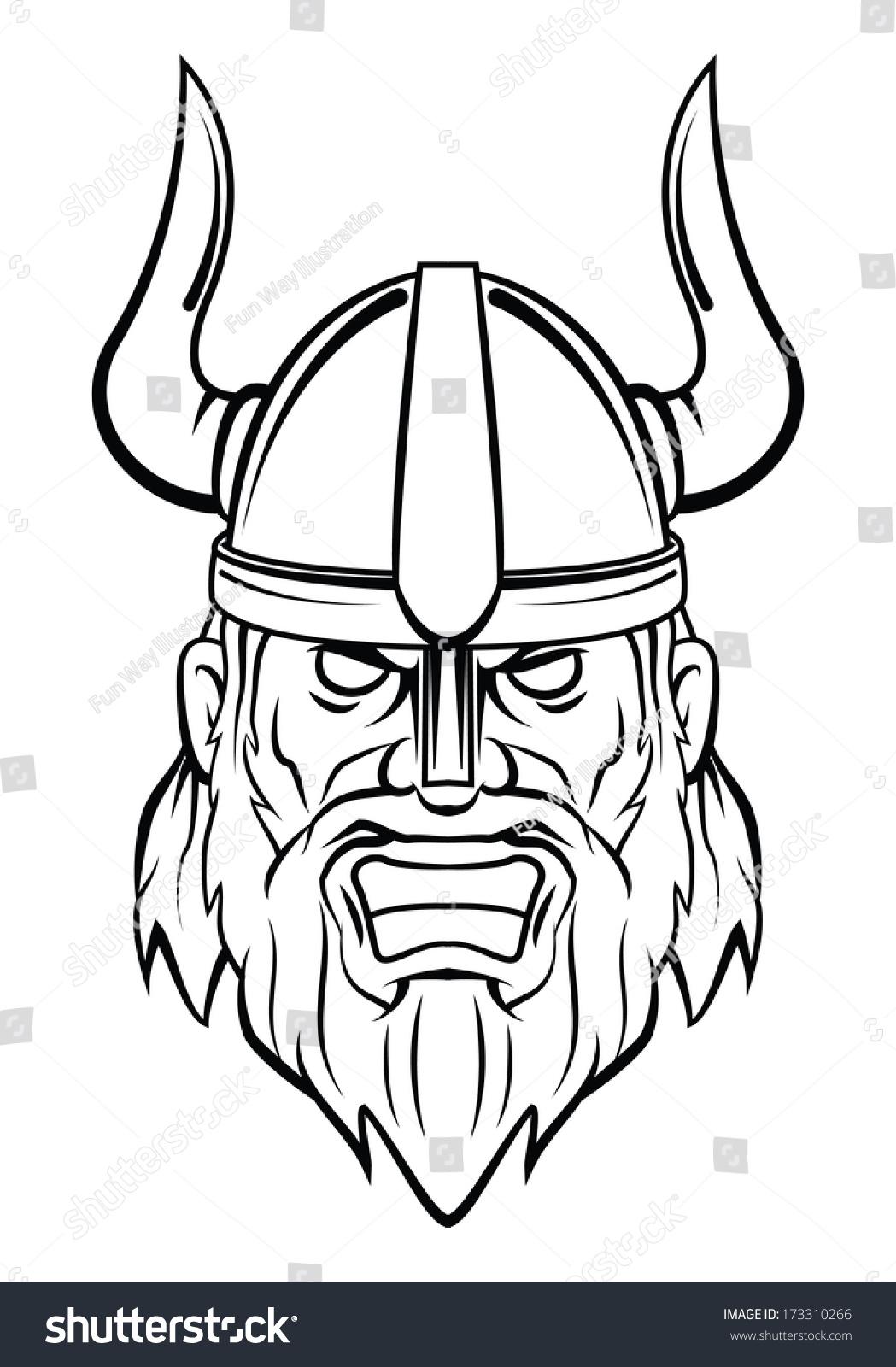 Viking Head Stock Illustration 173310266 - Shutterstock