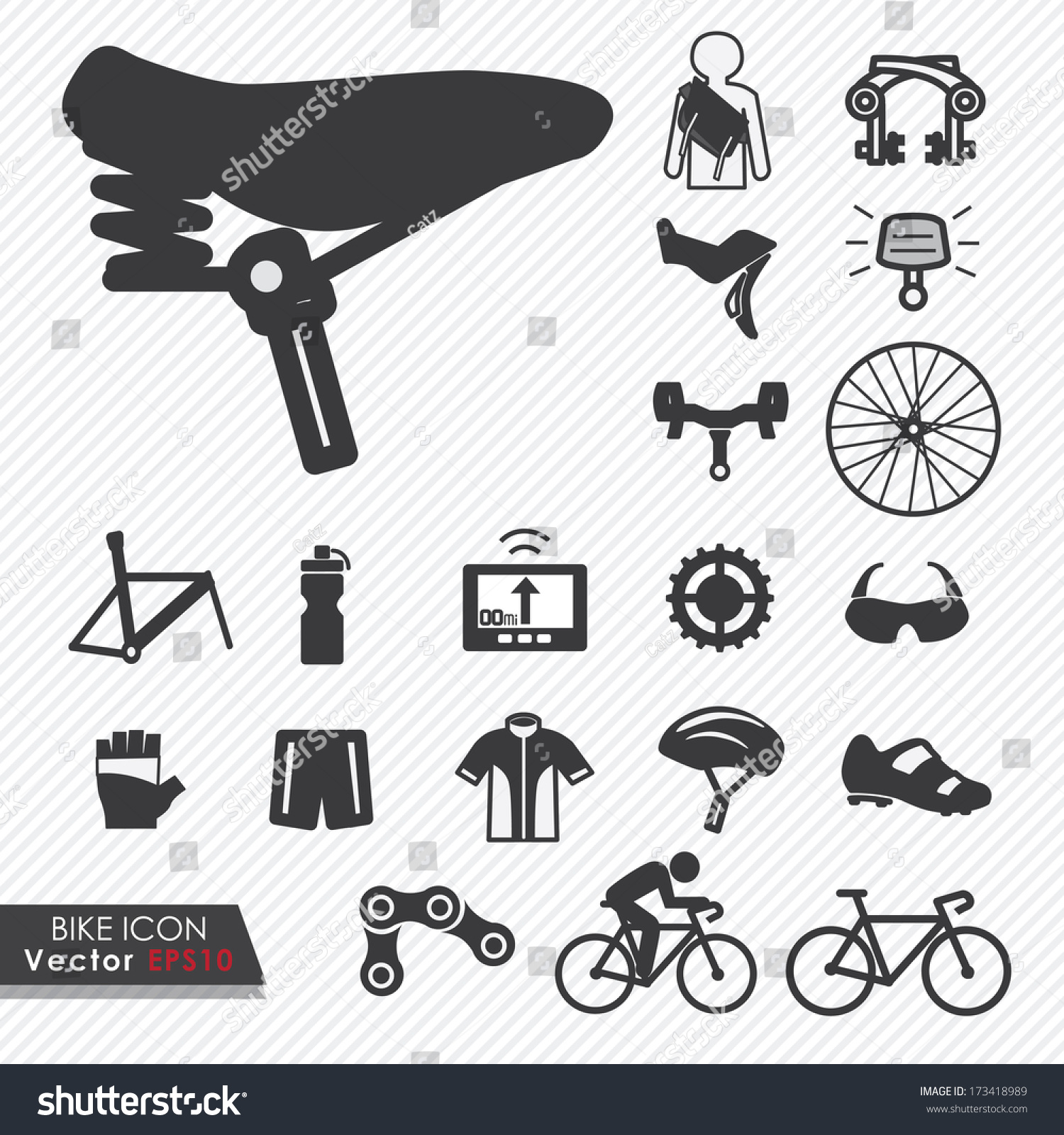 Bicycle Parts Vector b...