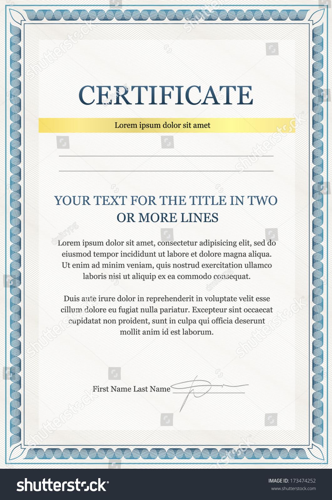 Diploma certificate template minimalist design stock vector diploma and certificate template minimalist design yelopaper Choice Image