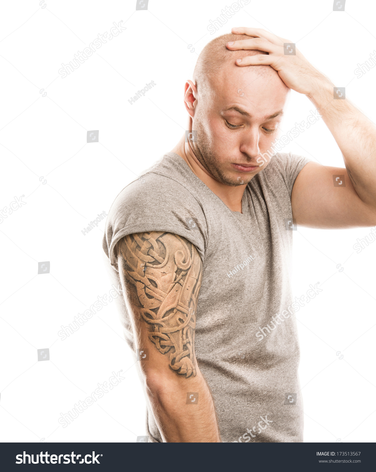 tattoo handsome young isolated shutterstock