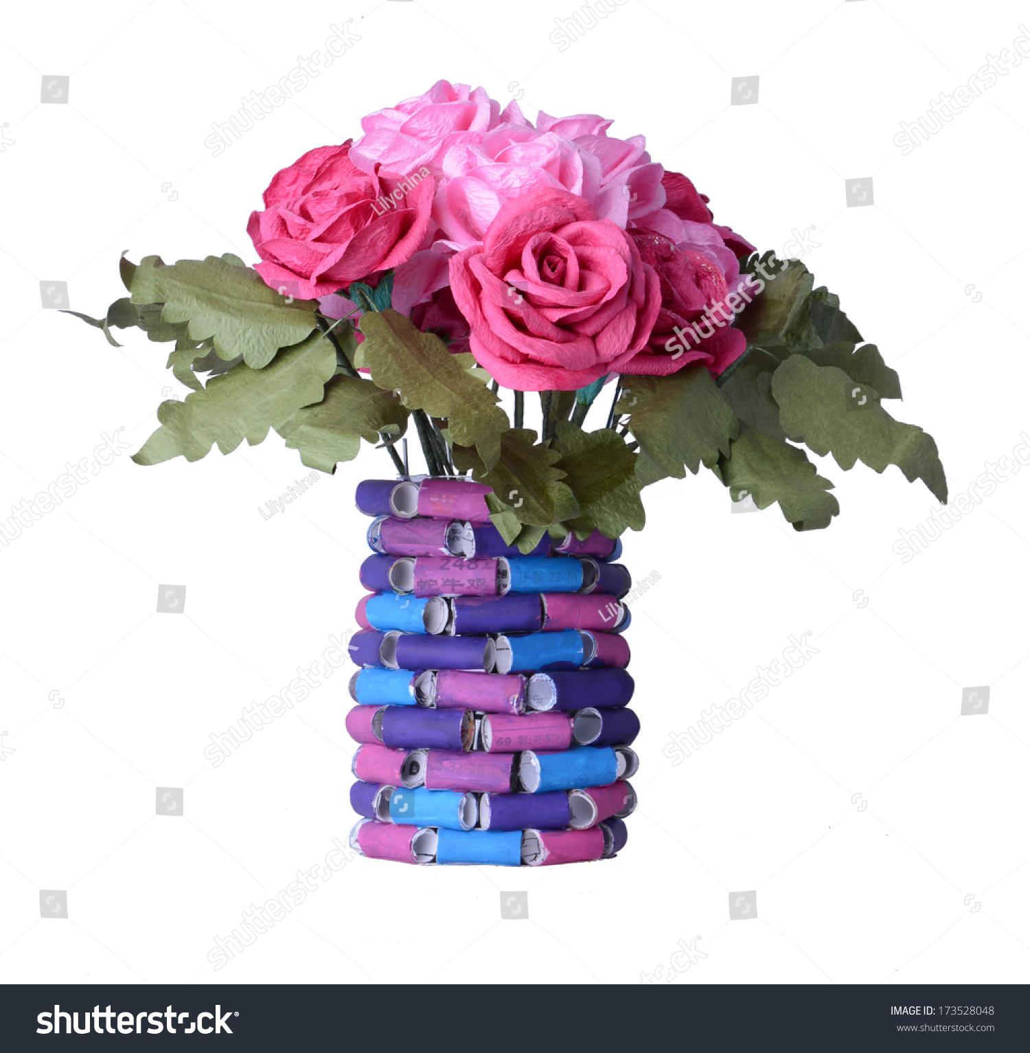 Beautiful flowers vases made paper stock photo edit now 173528048 beautiful flowers and vases are made of paper izmirmasajfo