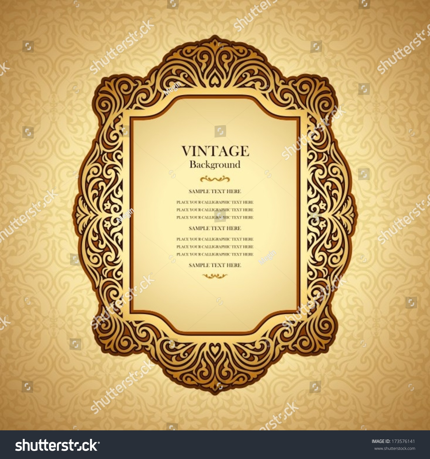 Book Cover Design Elegant : Vintage background design elegant book cover stock vector