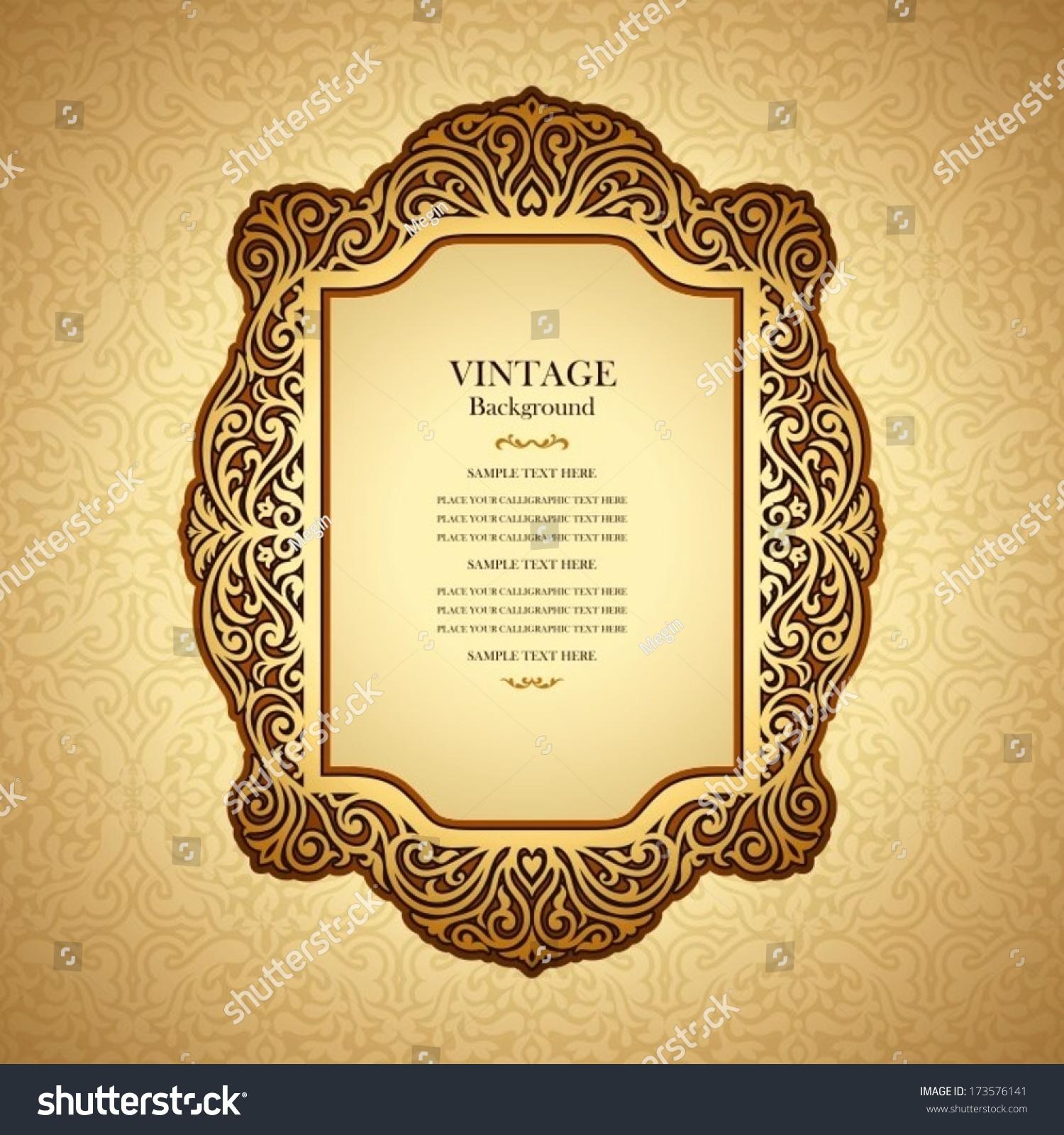 Vintage Book Cover Invitations : Vintage background design elegant book cover stock vector