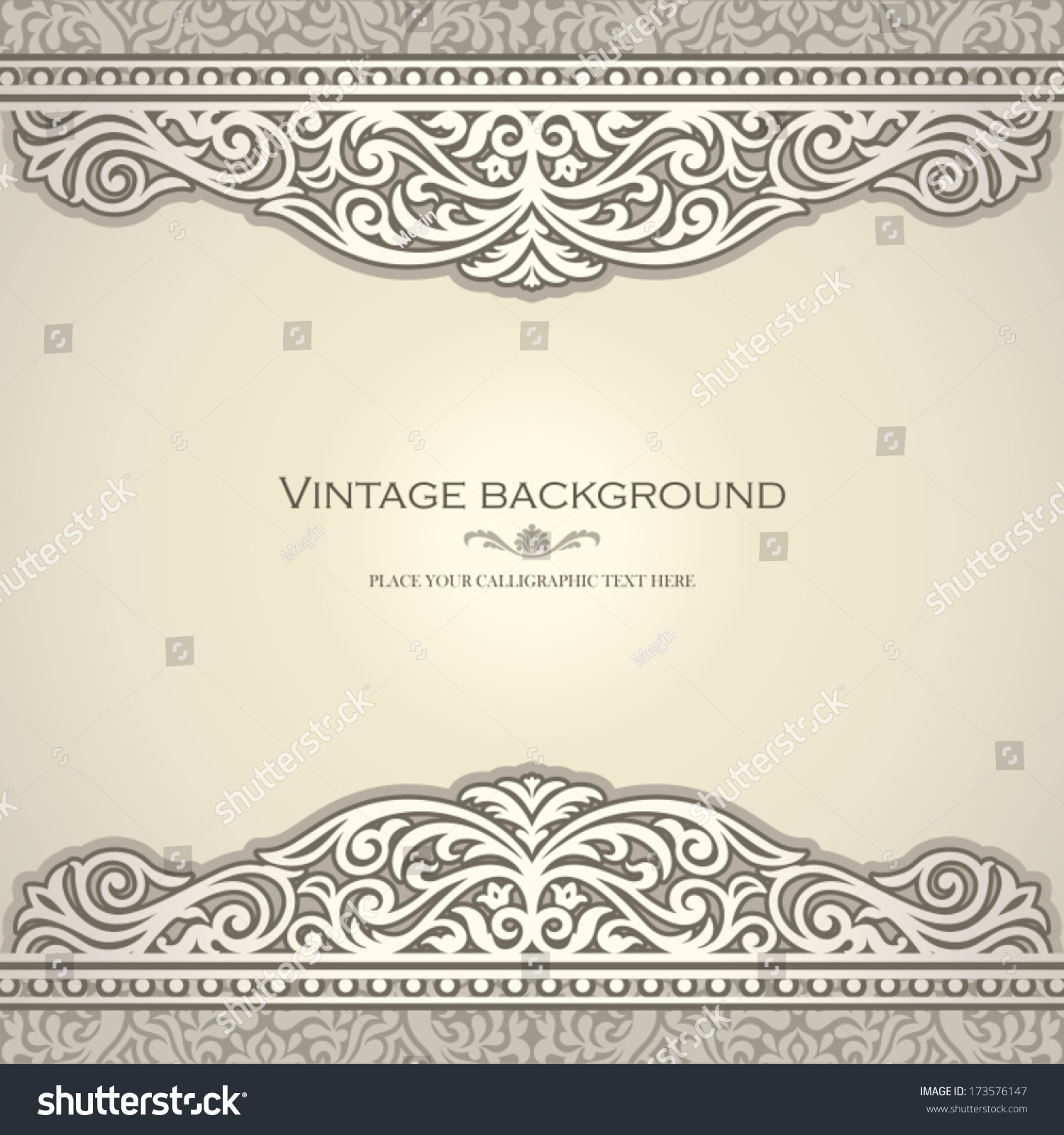 Vintage Book Cover Invitations ~ Vintage background design elegant book cover stock vector