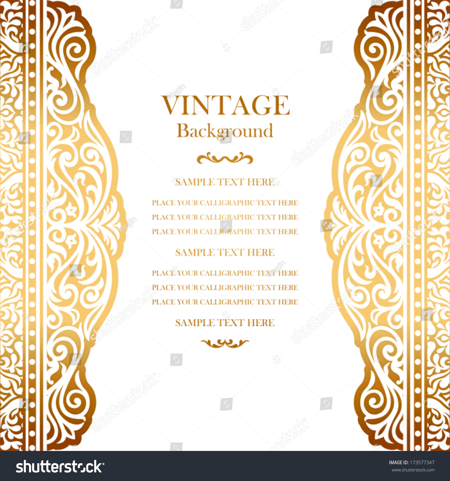 Vintage Book Cover Invitations ~ Vintage gold background design elegant book cover