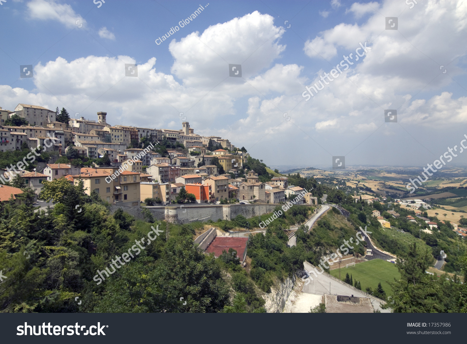 Arcevia Italy  City new picture : Panoramic View Of Arcevia Ancona, Marche, Italy Stock Photo 17357986 ...