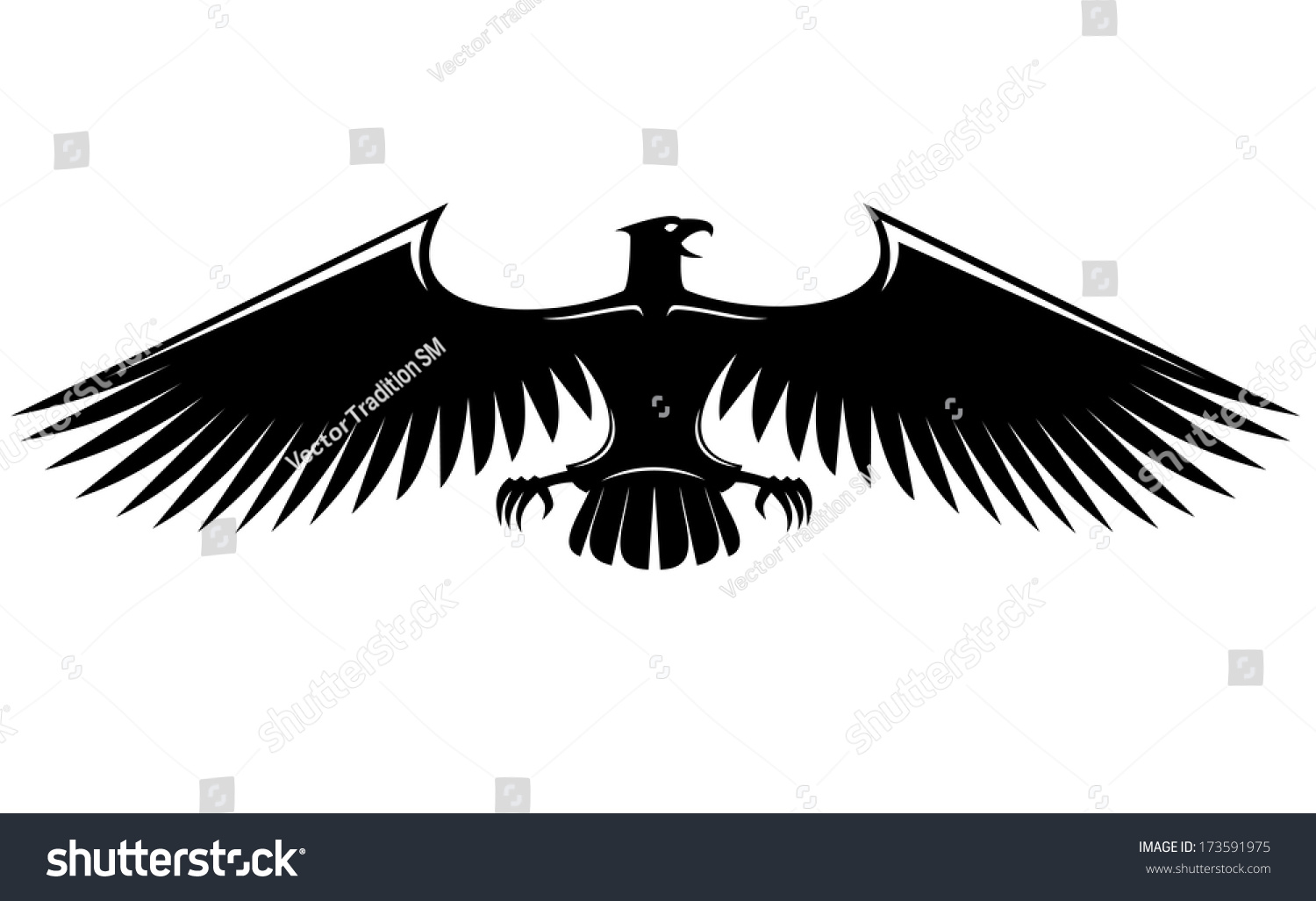 Heraldic eagle symbol logo isolated on stock vector 173591975 heraldic eagle symbol logo isolated on white background with long wings biocorpaavc Gallery