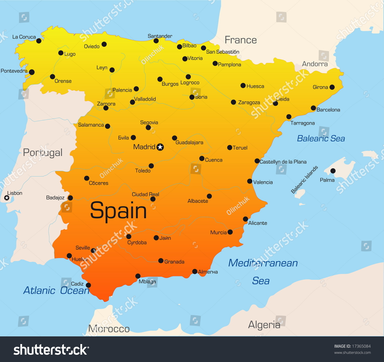 an overview of the country of spain Spain occupies most of the iberian peninsula,  still, the interior of the country gets very hot in summer and very cold and dry in the winter droughts are common.