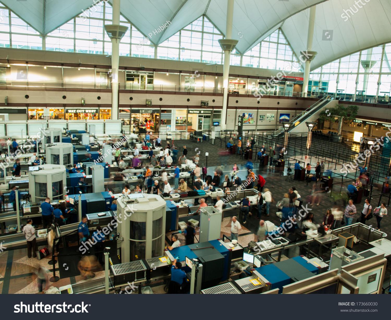 Denver Coloradoseptember 16 2012 Tsa Lines Stock Photo 173660030 Shutterstock