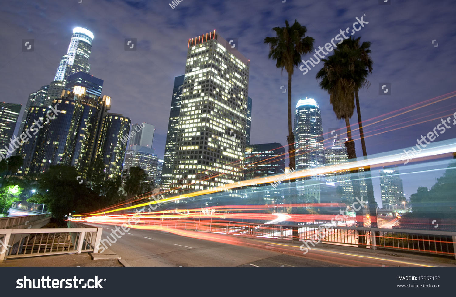 Los angeles traffic city skyline panoramic stock photo 17367172 shutterstock - Panoramic les angles ...