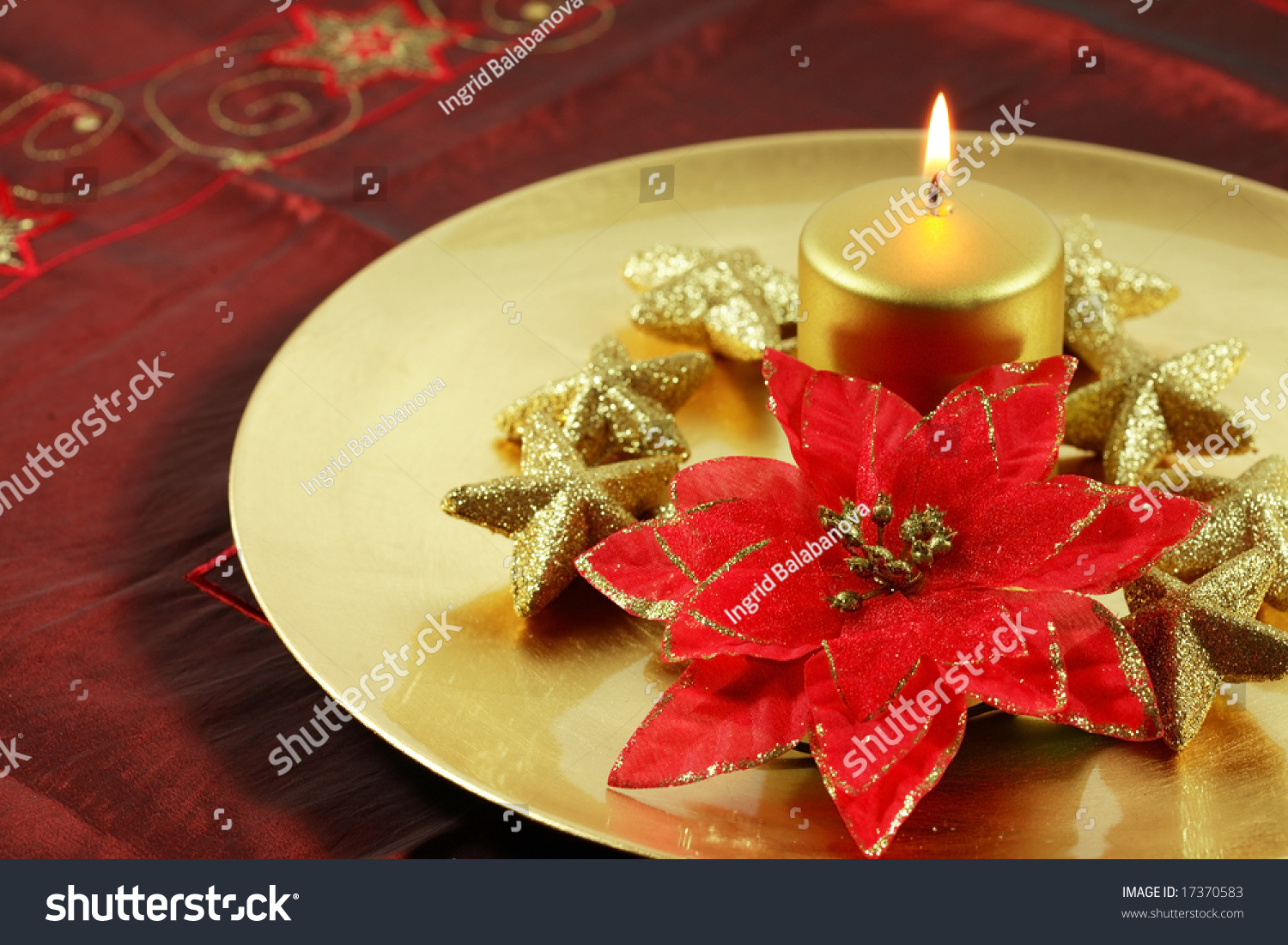 Beautiful Christmas Still Life Candles Stock Photo (Edit Now ...