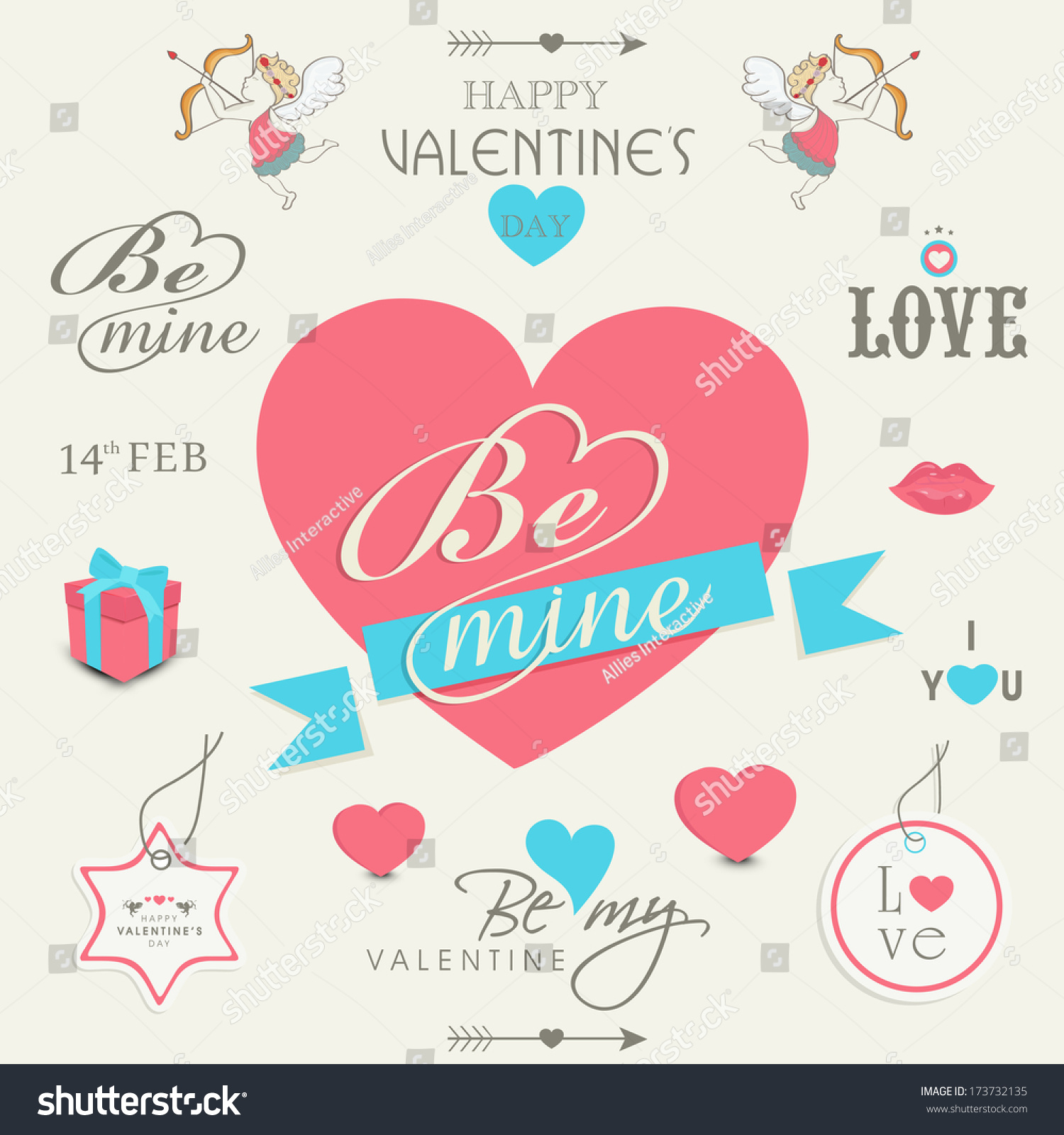 various heart shape designs stylish text stock photo photo vector
