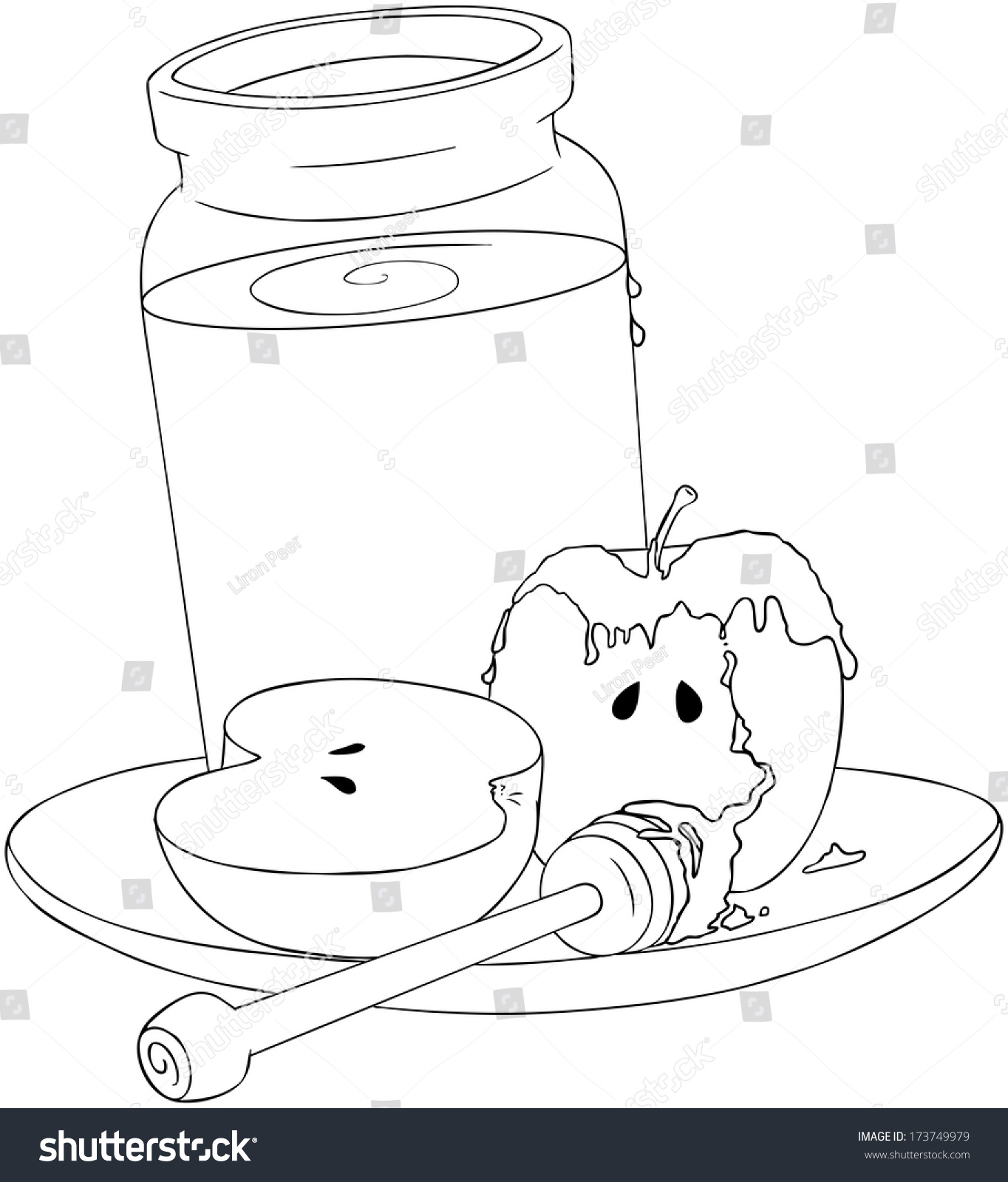 vector illustration coloring page honey jar stock vector 173749979