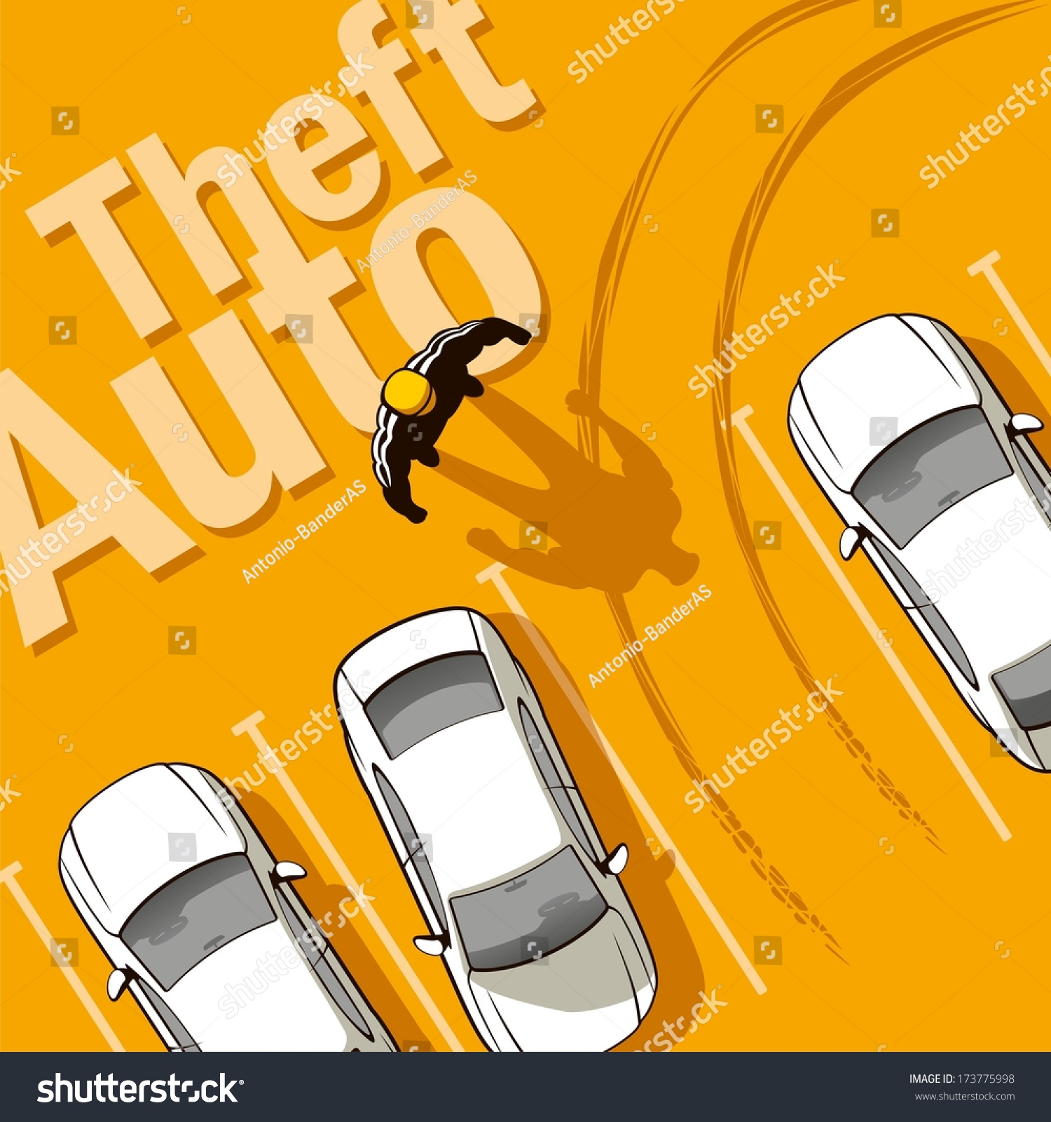 Car Theft Escape Parking: Theft Auto. The Owner Discovers The Theft Of His Car From