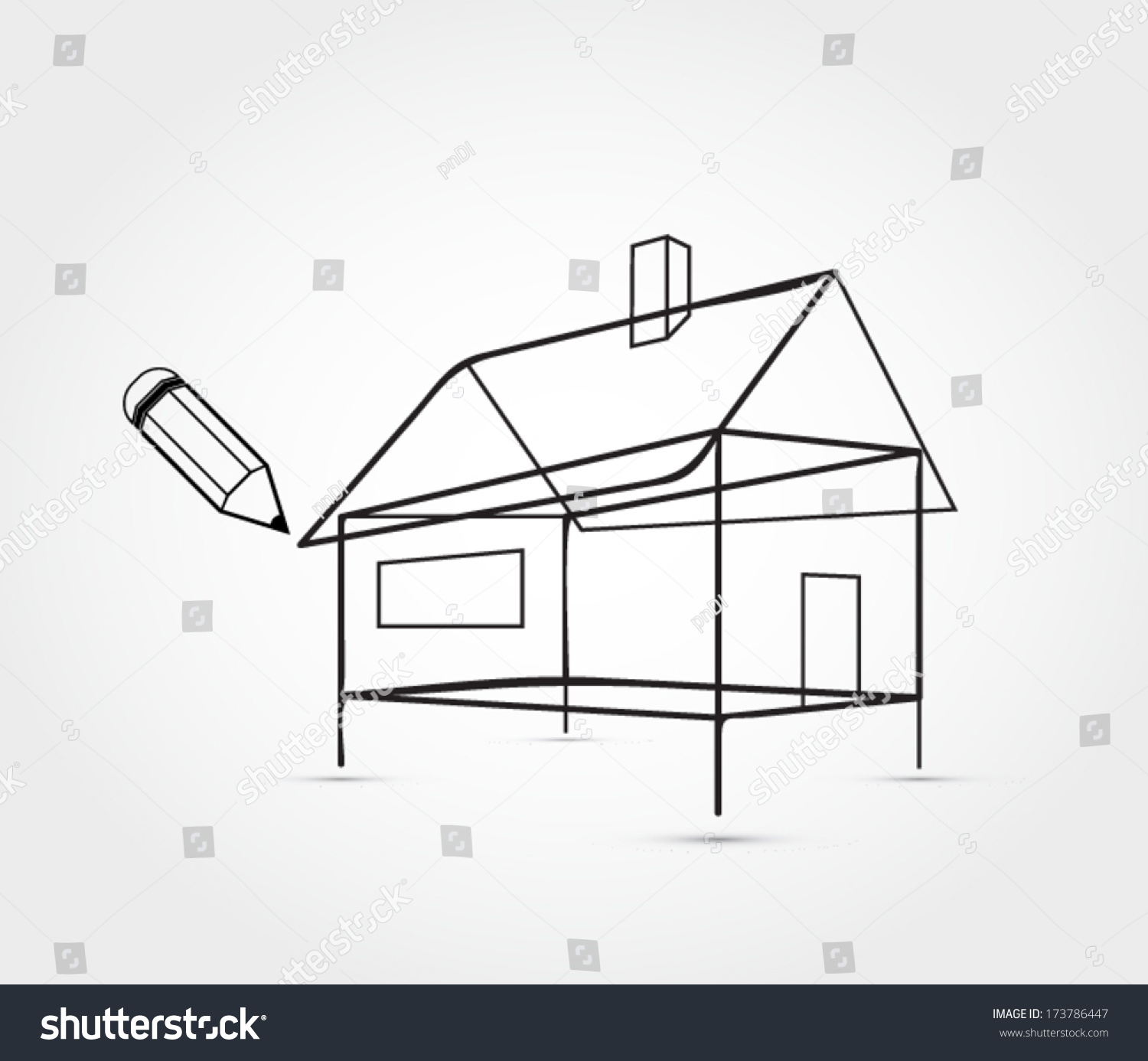 House outline picture - House Outline In Perspective