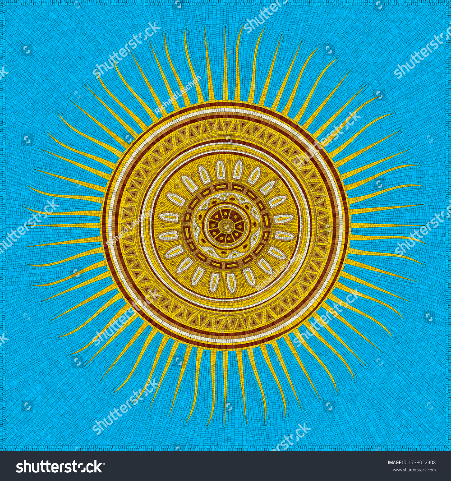 stock-vector-tribal-sun-vector-mosaic-ov